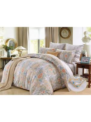 Комплект постельного белья, Витторе, Семейный KAZANOV.A.. Цвет: голубой