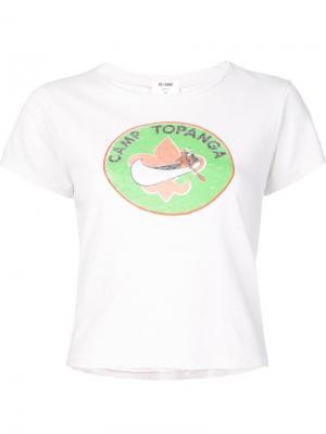 Футболка Camp Topanga Re/Done. Цвет: белый