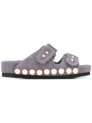 Декорированные сандалии Suecomma Bonnie. Цвет: серый