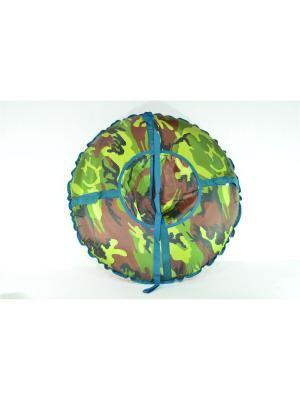 Санки надувные Ватрушка Метиз. Цвет: темно-коричневый, хаки