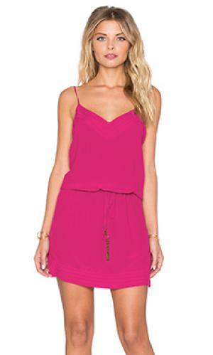 Мини платье lulu Vix Swimwear. Цвет: фуксия