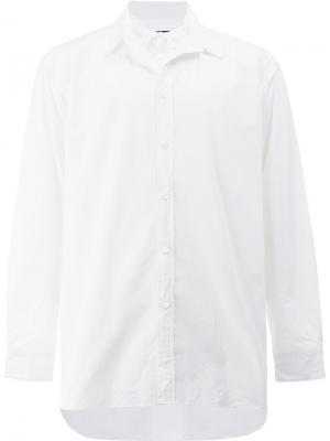 Рубашка с двойным воротником 08Sircus. Цвет: белый