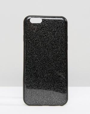 SIGNATURE Чехол с блестками для iPhone 6. Цвет: черный