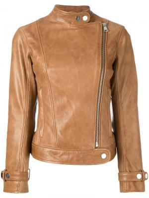 Байкерская куртка на молнии Dondup. Цвет: телесный