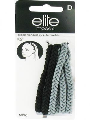 Ободок для волос, 2 шт ELITE.. Цвет: черный, белый