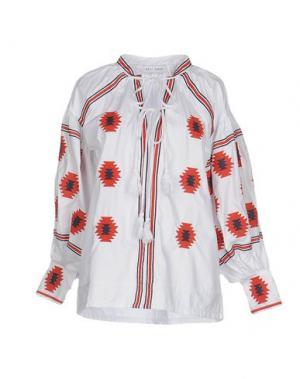 Блузка WEILI ZHENG. Цвет: белый