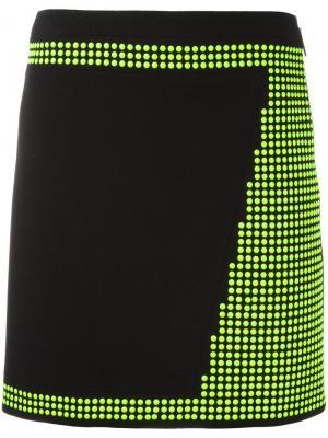 Мини-юбка с заклепками Christopher Kane. Цвет: чёрный