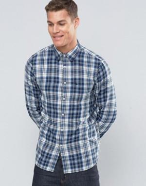 Jack Wills Рубашка в клетку классического кроя. Цвет: синий