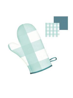 Прихватка-рукавица DEKORTEX. Цвет: бирюзовый, светло-голубой