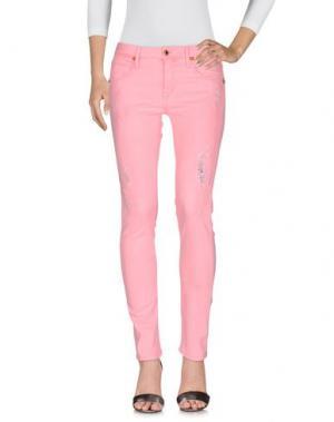 Джинсовые брюки AB/SOUL. Цвет: розовый