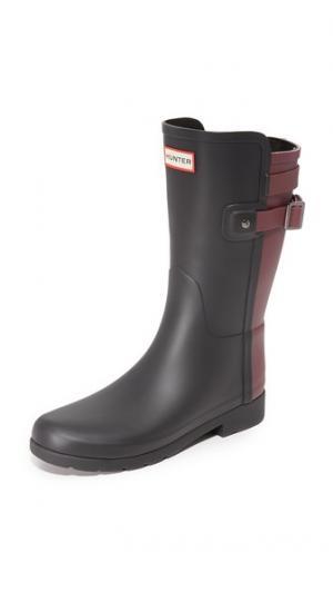 Оригинальные короткие сапоги Refined Hunter Boots. Цвет: черный/темно-красный
