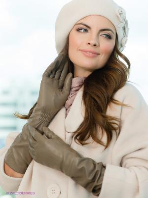 Перчатки Eleganzza. Цвет: серо-коричневый