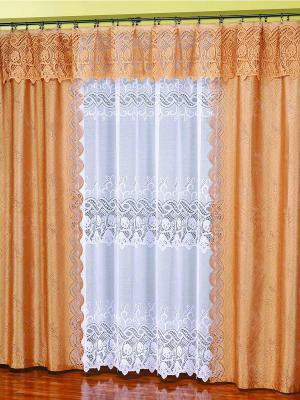 Комплект штор Злата Haft. Цвет: золотистый