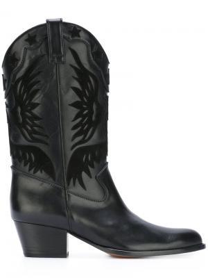 Ботинки Imperial Cowboy Aquazzura. Цвет: чёрный