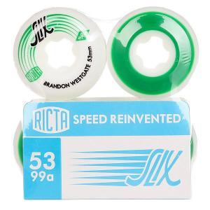 Колеса для скейтборда  Brandon Westgate Slix White/Green 99A 53 mm Ricta. Цвет: белый,зеленый
