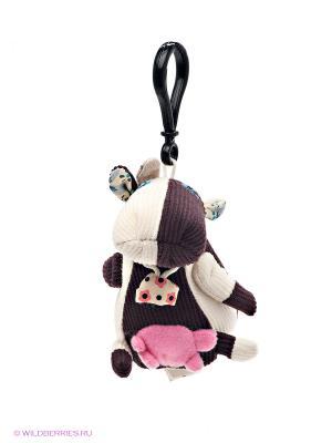 Брелок Корова Deglingos. Цвет: бежевый, коричневый, розовый