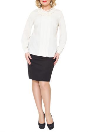 Блузка E.LEVY. Цвет: бежевый