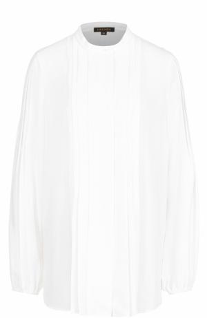 Блуза с плиссированной отделкой Escada. Цвет: белый