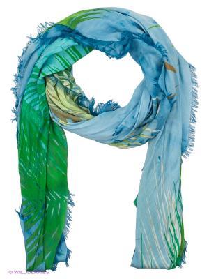 Платок Moltini. Цвет: зеленый, голубой
