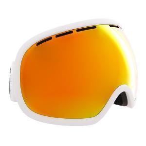 Маска для сноуборда  Fishbowl White Satin/Fire Real Chrome Von Zipper. Цвет: черный