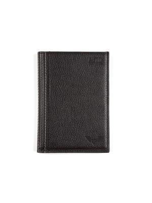 Бумажник водителя с отделением для денег из кожи Каскад Zinger. Цвет: черный