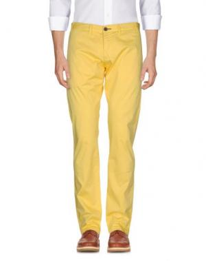 Повседневные брюки ALV ANDARE LONTANO VIAGGIANDO. Цвет: желтый