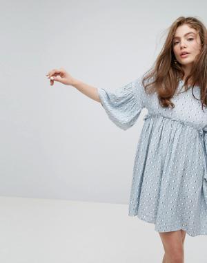 Willow and Paige Свободное платье с принтом. Цвет: мульти