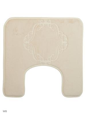 Коврик для ванной Ornament 50х50,кремовый Jardin. Цвет: кремовый