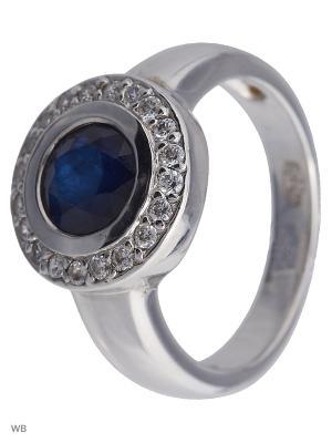 Кольцо Митра Ювелир. Цвет: темно-синий, серебристый