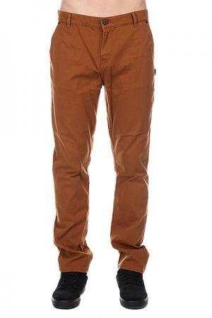 Штаны прямые  Byron Chino Khaki Fallen. Цвет: коричневый