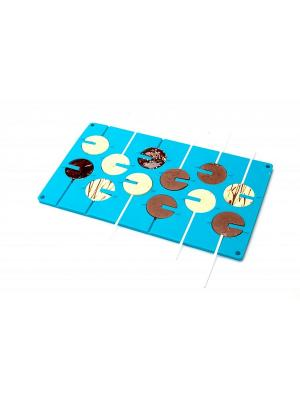 Форма силиконовая 3D КРУГ BRADEX. Цвет: голубой