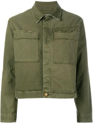 Куртка с накладными карманами Current/Elliott. Цвет: зелёный