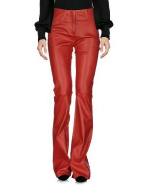 Повседневные брюки JITROIS. Цвет: красный