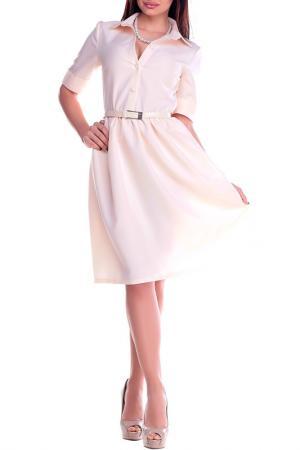 Платье Dioni. Цвет: нежно-персиковый