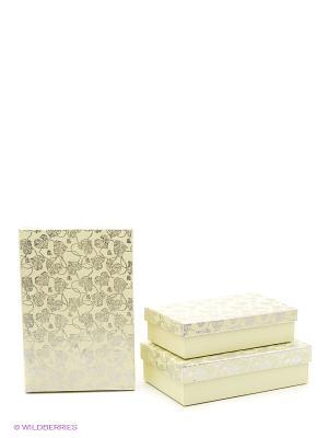 Коробка картонная набор из 3-х VELD-CO. Цвет: желтый