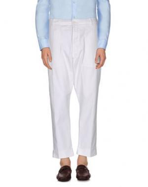 Повседневные брюки WOOSTER + LARDINI. Цвет: белый