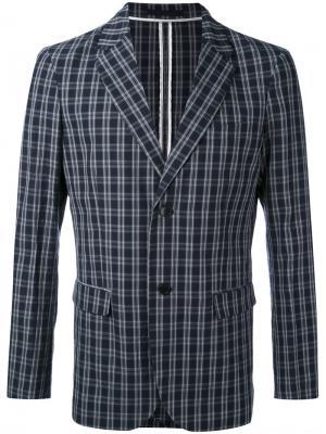 Пиджак в клетку Paolo Pecora. Цвет: серый