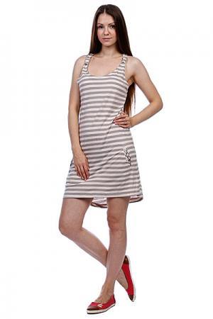 Платье женское  Everlast Dress Coral Ezekiel. Цвет: серый,белый