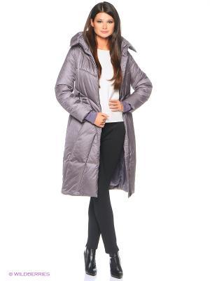 Стеганое пальто D`imma. Цвет: сиреневый