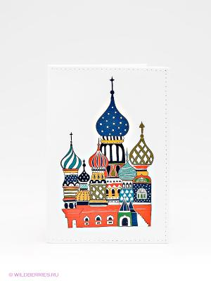 Обложка для паспорта Mitya Veselkov. Цвет: белый, синий, красный