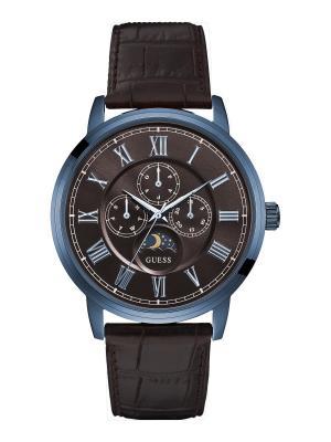 Часы GUESS. Цвет: темно-синий,коричневый