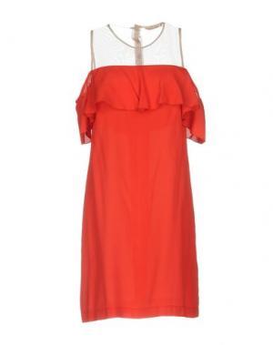 Короткое платье KARTIKA. Цвет: красный