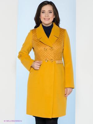 Пальто Electrastyle. Цвет: желтый