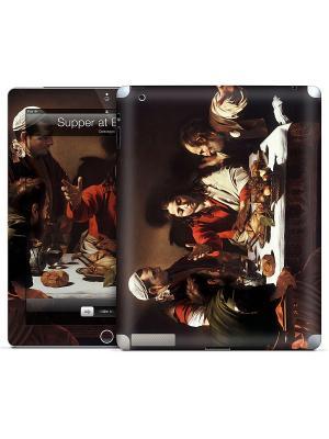 Наклейка для iPad 2,3,4 Supper at Emmaus-Caravaggio Gelaskins. Цвет: темно-коричневый, серо-зеленый, красный