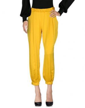 Повседневные брюки MIGUEL PALACIO for HOSS INTROPIA. Цвет: желтый