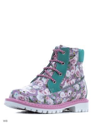 Ботинки ELEGAMI. Цвет: розовый, белый, зеленый