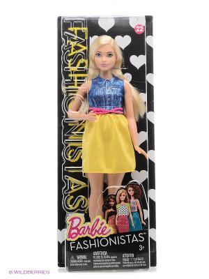Кукла из серии Игра с модой Barbie. Цвет: бледно-розовый, желтый