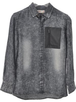 Рубашка SILVERSUN. Цвет: черный