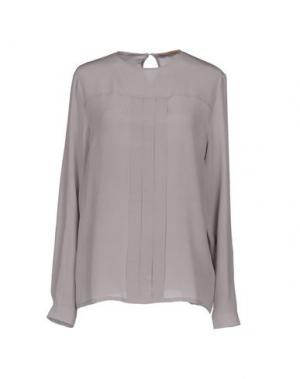 Блузка SETE DI JAIPUR. Цвет: голубиный серый