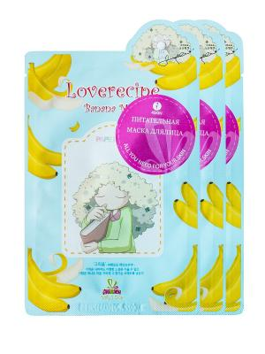 Маска для лица SALLYS BOX с экстрактом банана, х 3 шт. Sally's. Цвет: желтый